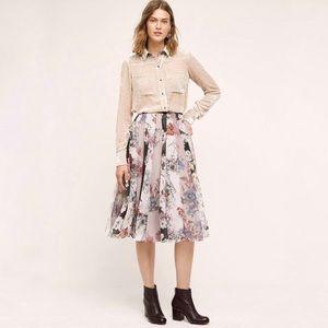 Anthropologie Varun Bahl Flowerful Midi Skirt